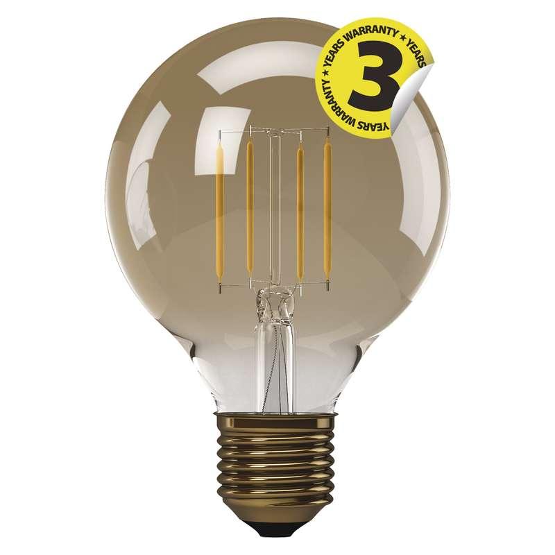 LED žárovka Vintage G95 4W E27 teplá bílá+