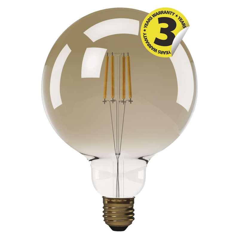 LED žárovka Vintage G125 4W E27 teplá bílá+