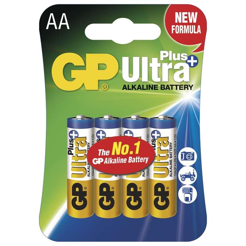 Alkalická baterie GP Ultra Plus LR6 (AA), blistr