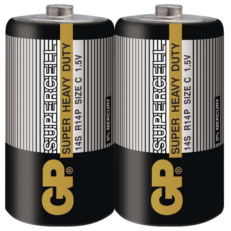 Zinkouhlíková baterie GP Supercell R14 (C) fólie