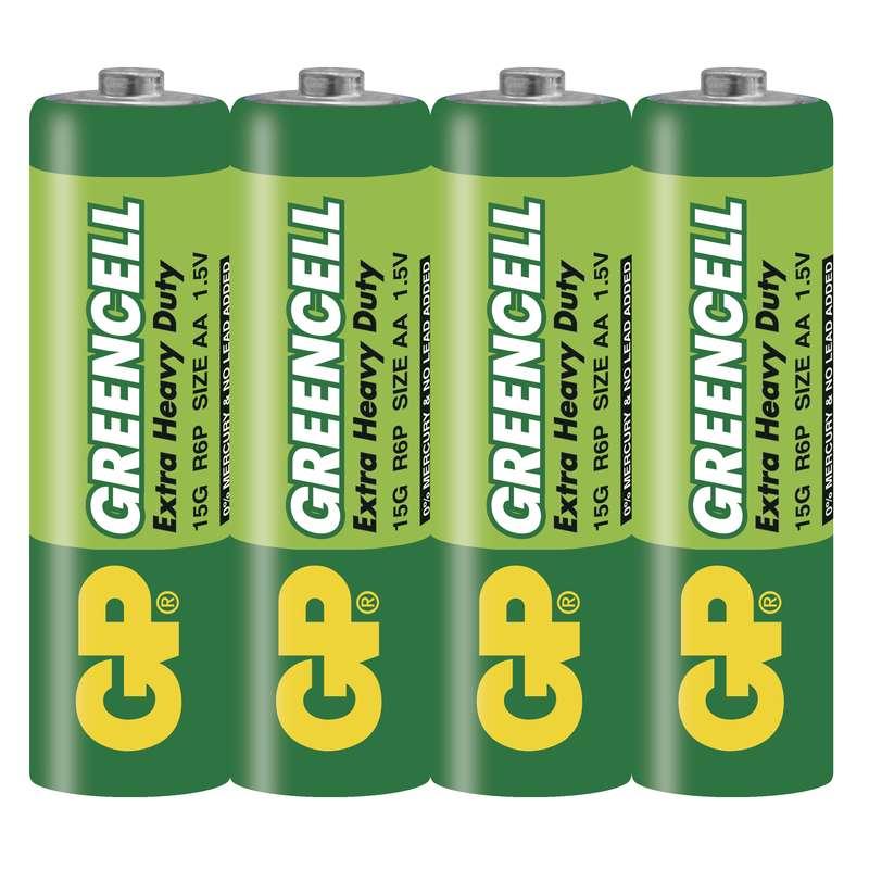 Zinkochloridová baterie GP Greencell R6 (AA)
