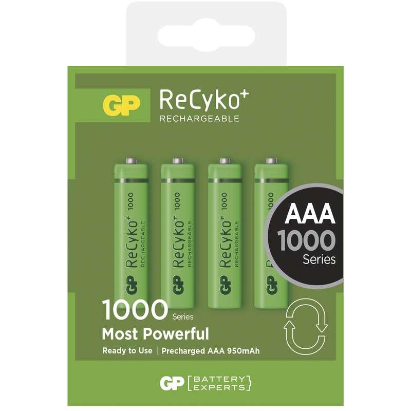 Nabíjecí baterie GP ReCyko+ 1000 HR03 (AAA), krabička