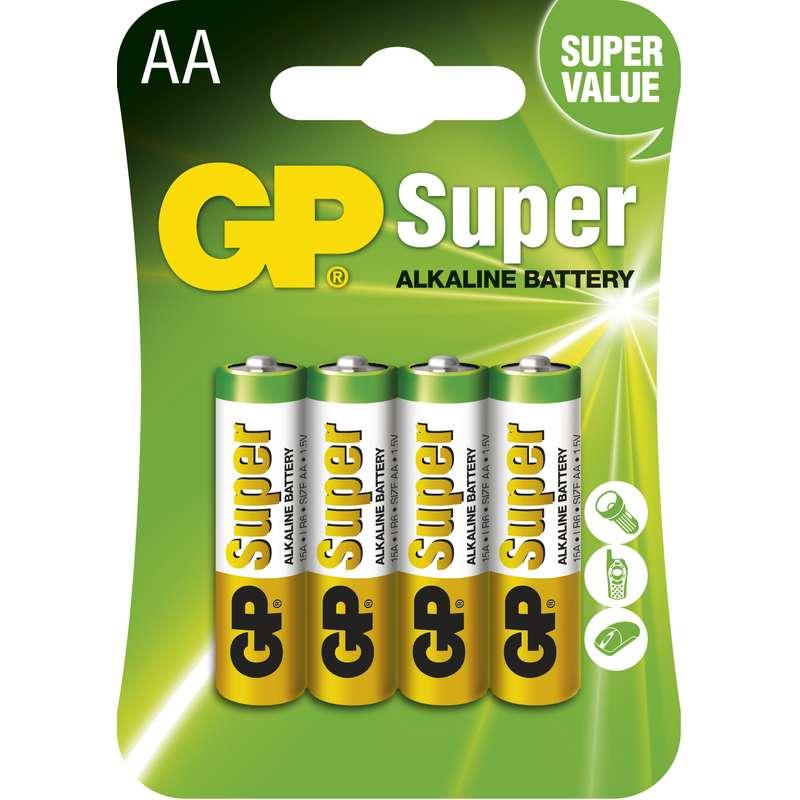 Alkalická baterie GP Super LR6 (AA), blistr