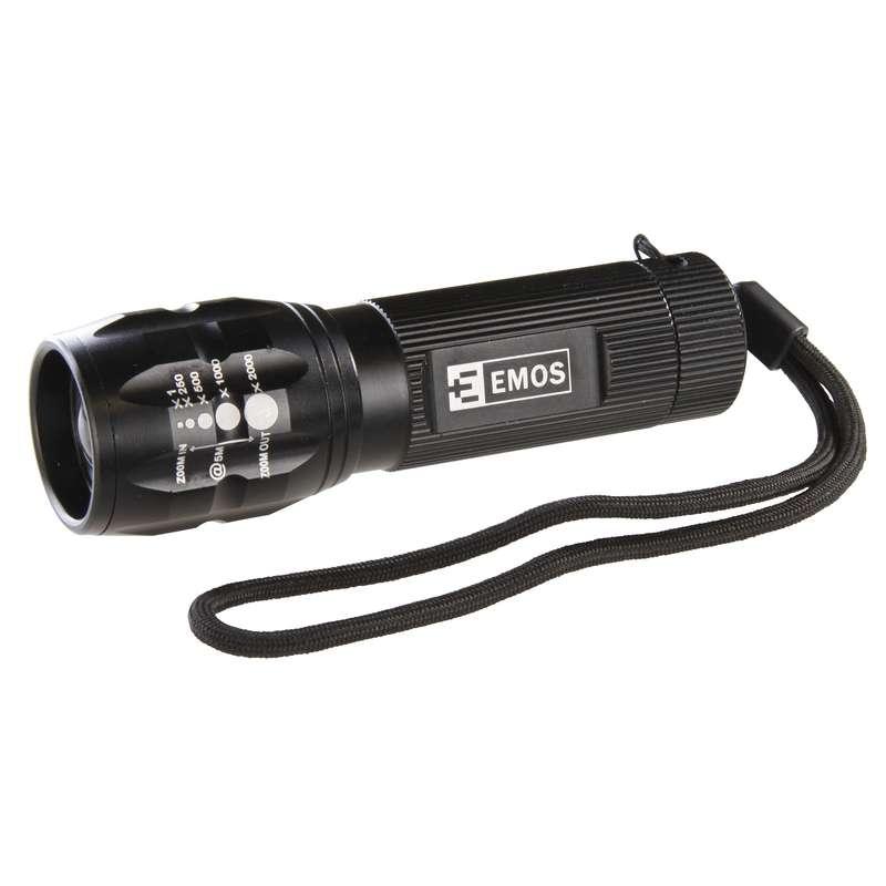 LED svítilna kovová, 1x CREE LED 3W, na 3x AAA, FOKUS