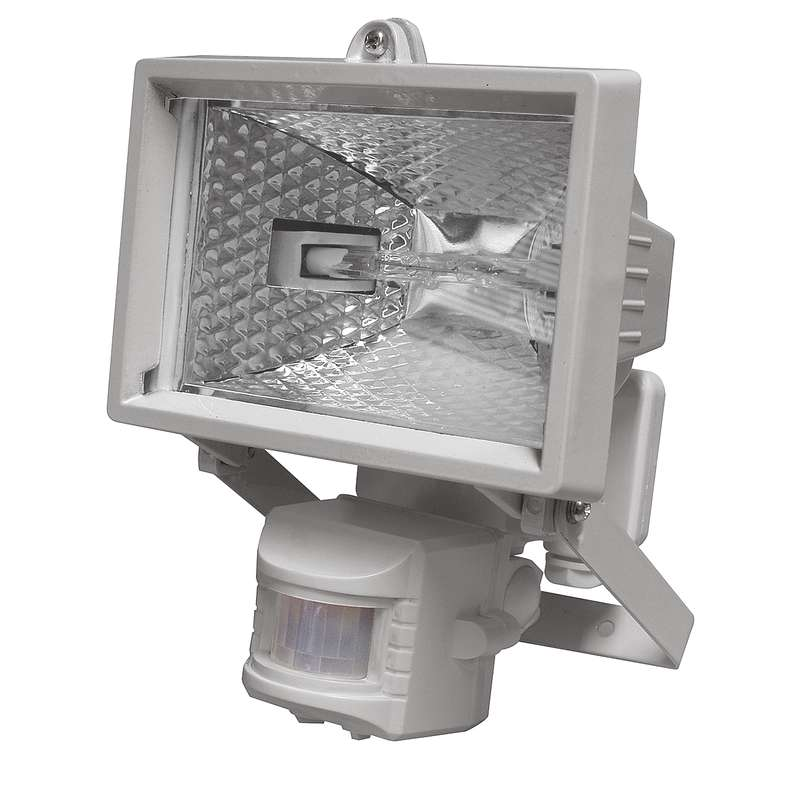 Halogenový reflektor 150W s PIR senzorem bílý