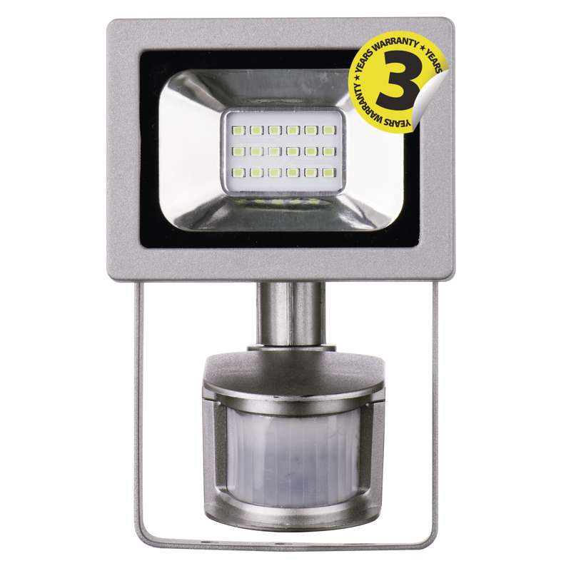 LED reflektor PROFI s pohybovým čidlem, 10W neutrální bílá