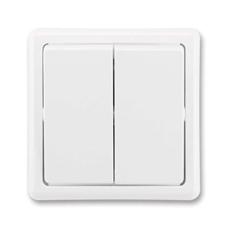Vypínač CLASSIC dvojitý, bílý 3553-52289 B1 ŘAZ.6+6