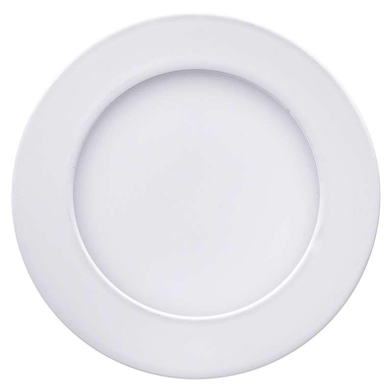 LED panel 120mm, kruhový přisazený bílý, 6W teplá bílá