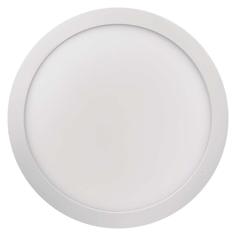 LED panel 300mm, kruhový přisazený bílý, 24W neutrální bílá