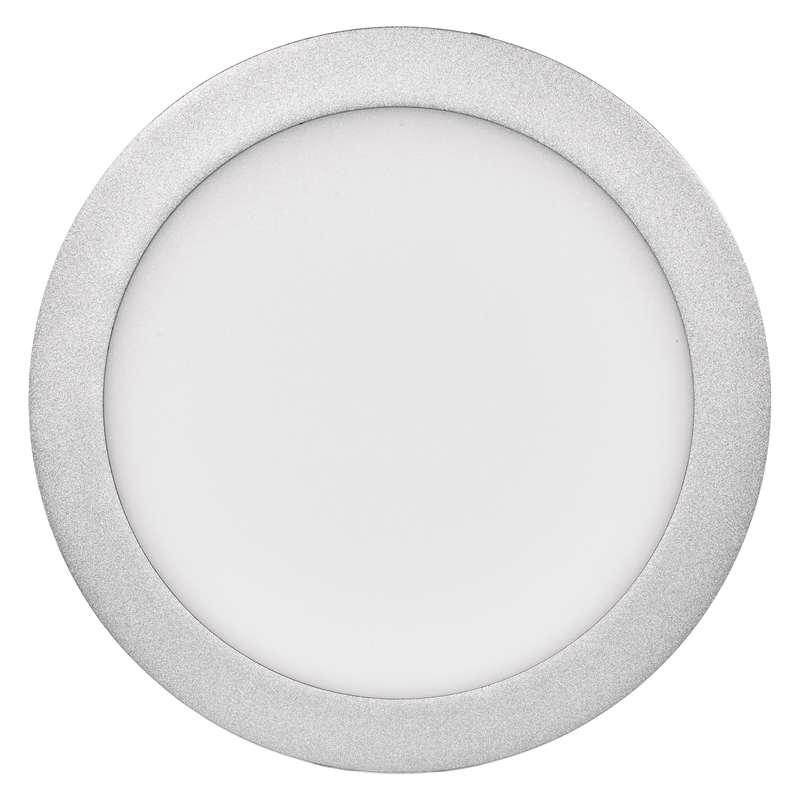 LED panel 224mm, kruhový přisazený stříbrný, 18W neutr. bílá
