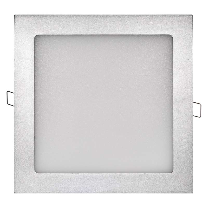 LED panel 225×225, čtvercový vestavný stříbrný, 18W neut. b.