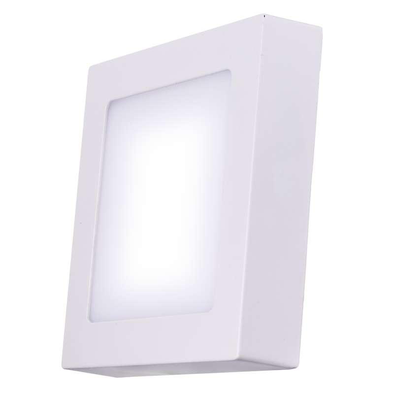 LED panel 120×120, přisazený bílý, 6W teplá bílá
