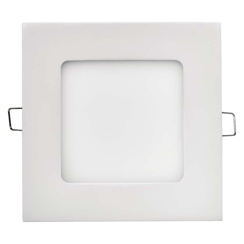 LED panel 120×120, čtvercový vestavný bílý, 6W teplá bílá