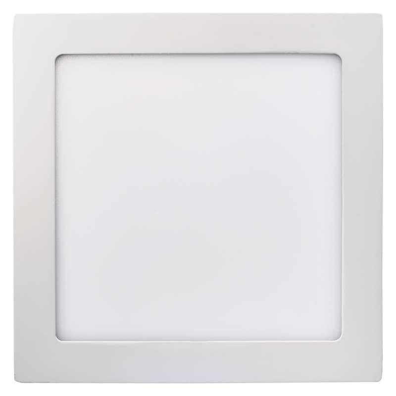LED panel 225×225, přisazený bílý, 18W teplá bílá
