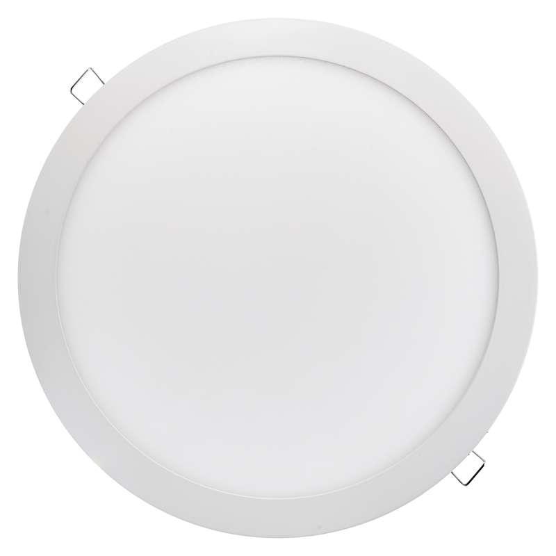 LED panel 297mm, kruhový vestavný bílý, 24W teplá bílá