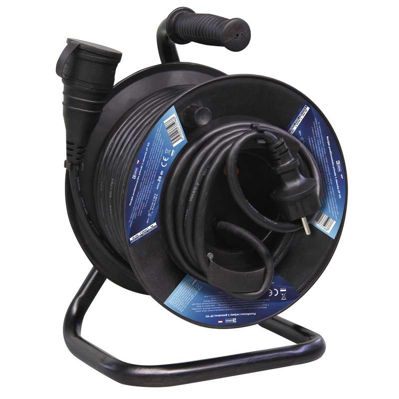 Gumový prodlužovací kabel na bubnu - spojka 25m 1,5mm