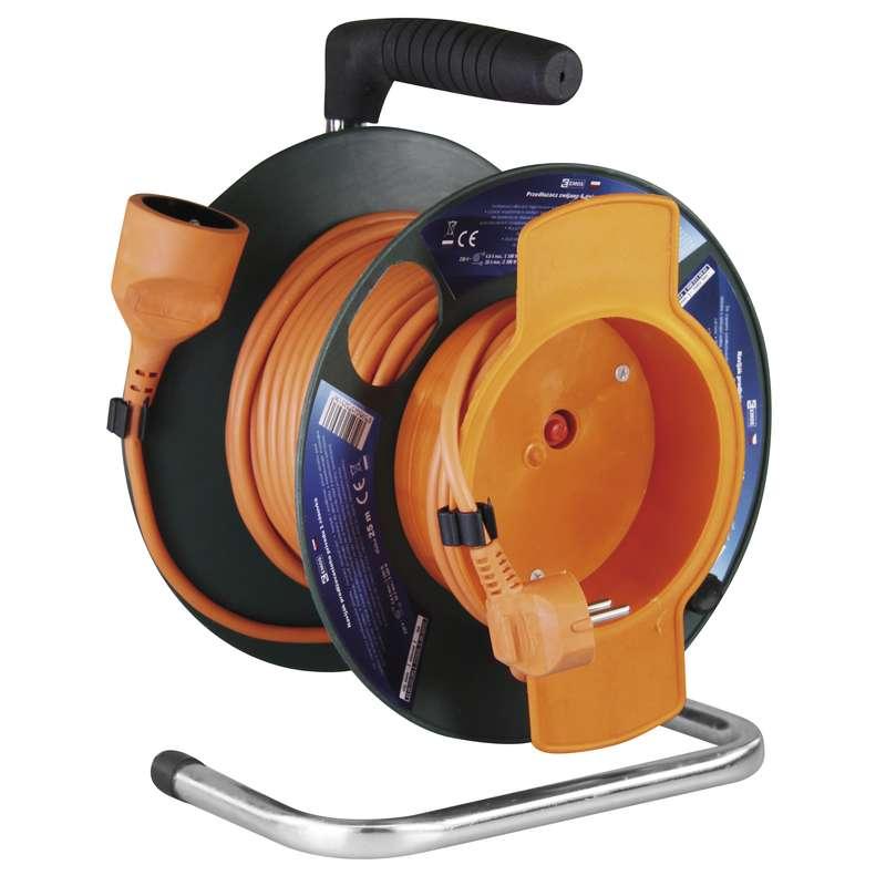 PVC prodlužovací kabel na bubnu - spojka 25m 1,5mm