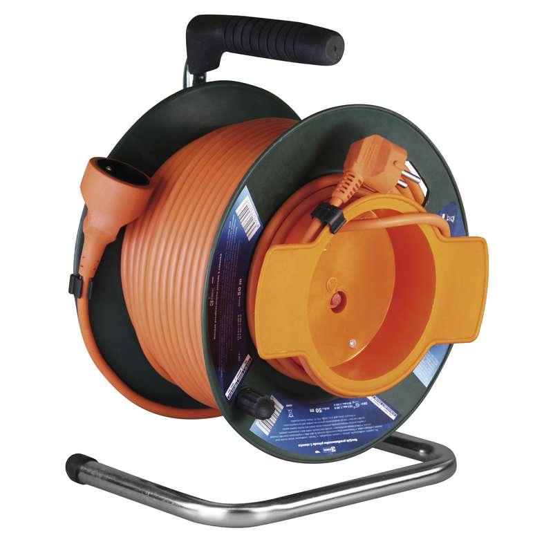 PVC prodlužovací kabel na bubnu - spojka 50m 1,5mm