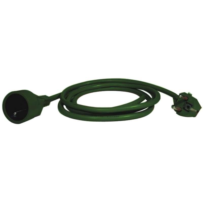Prodlužovací přívod – spojka, 5m, zelená