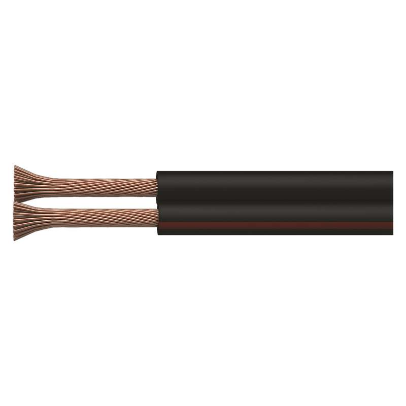 Dvojlinka ECO 2x1,5mm, černo/rudá, 100m