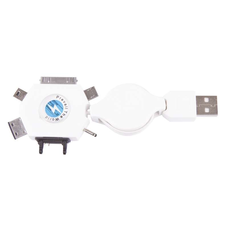 USB kabel 2.0 A/M - MULTI/M 0,8m