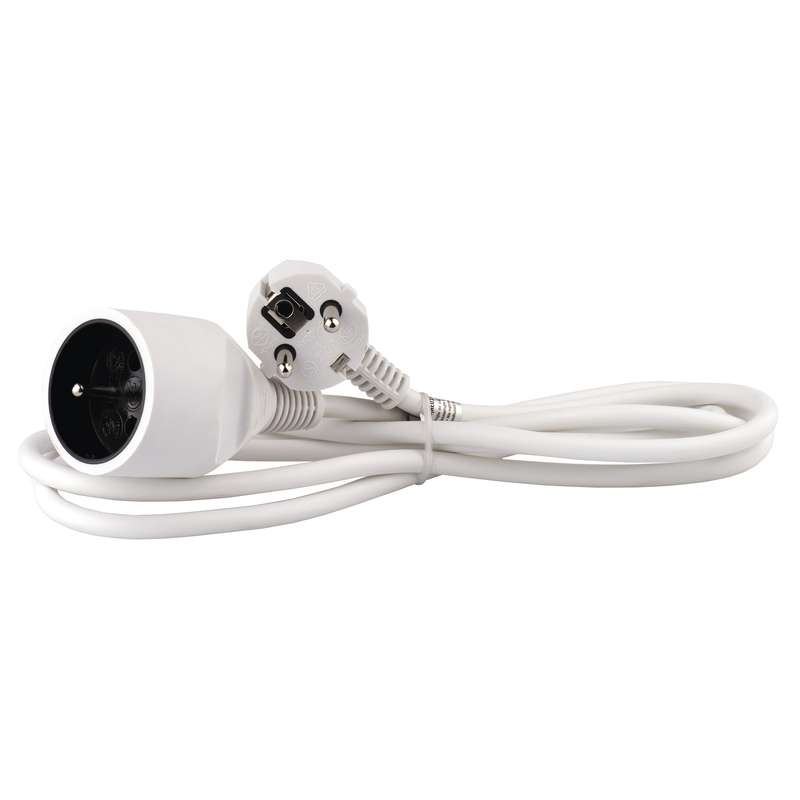 Prodlužovací kabel – spojka, 2m, bílý