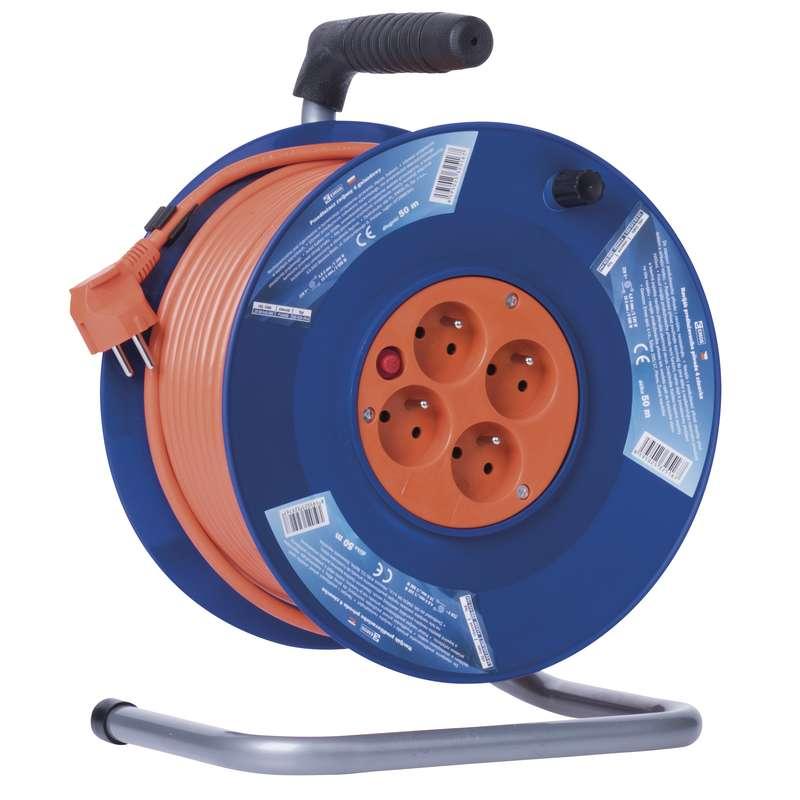 PVC prodlužovací kabel na bubnu - 4 zásuvky 50m 1,5mm