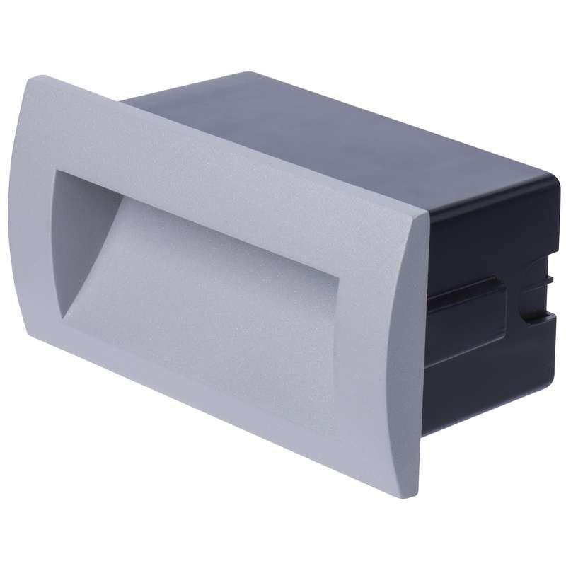 LED orientační vestavné svítidlo 140×70, 3W teplá bílá IP65
