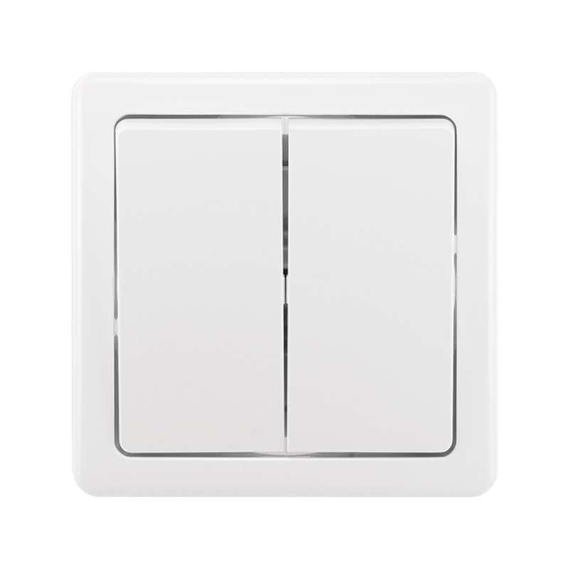 Vypínač SWING dvojitý, bílý Ř5 3557G-05340
