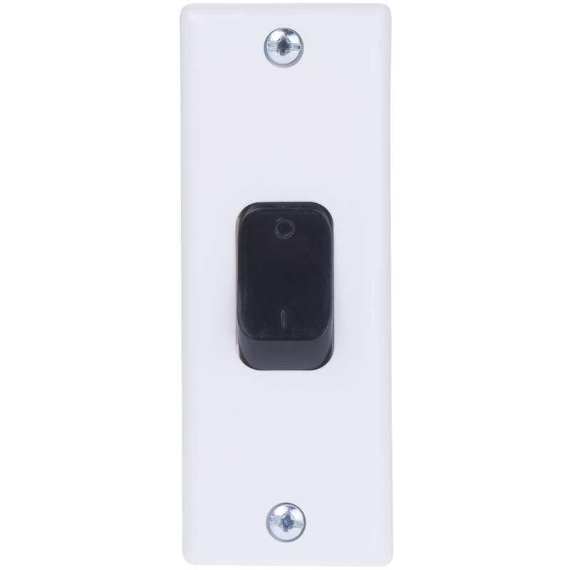 Vypínač zárubňový TESLA 4FN57612, bílá