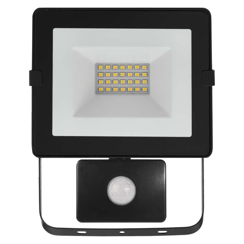 LED reflektor HOBBY SLIM s pohyb. čidlem, 20W neutrální bílá