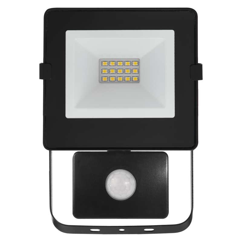 LED reflektor HOBBY SLIM s pohyb. čidlem, 10W neutrální bílá