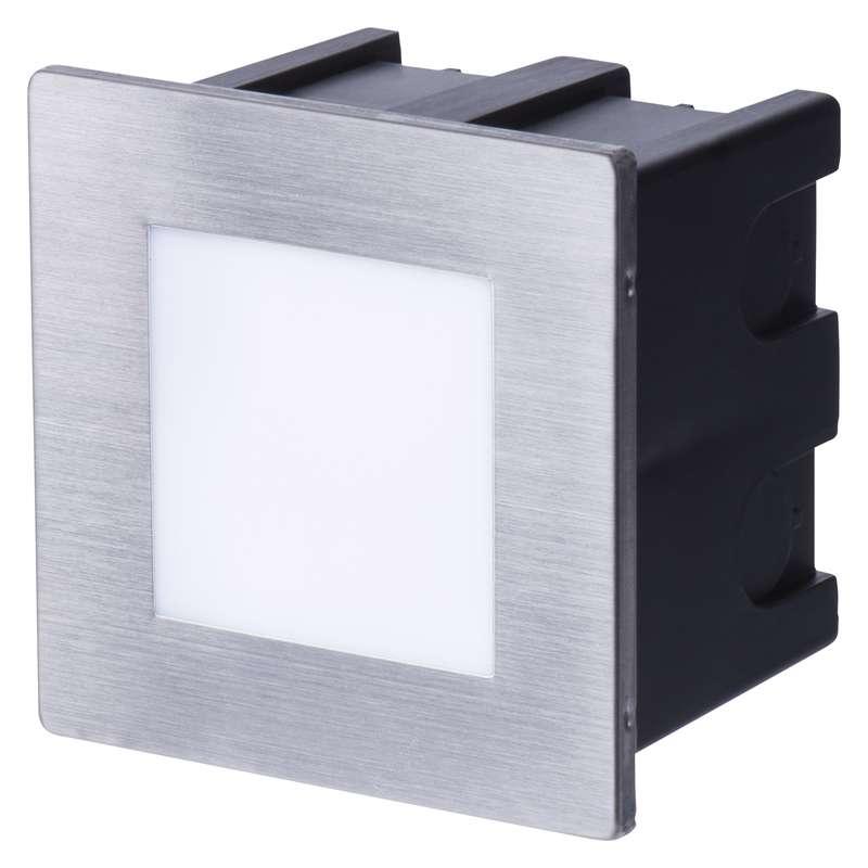 LED orientační vestavné svítidlo 80×80 1,5W neutr. bílá IP65
