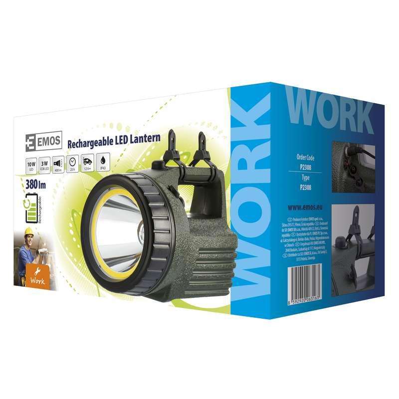 Nabíjecí svítilna LED + COB model 3810 10W
