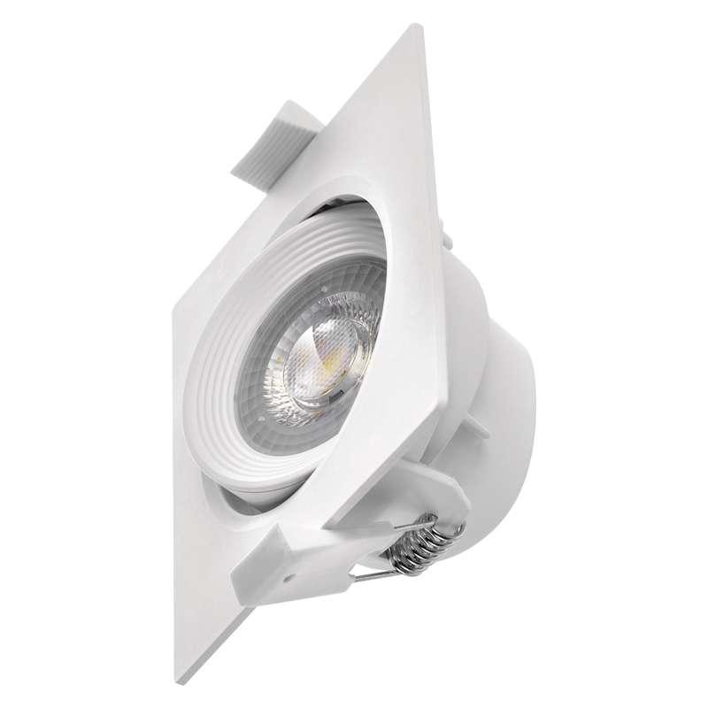 LED bodové svítidlo bílé, čtverec 5W teplá bílá