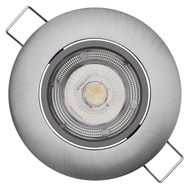LED bodové svítidlo Exclusive stříbrné, 8W teplá bílá