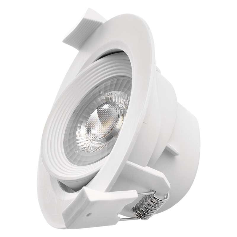LED bodové svítidlo bílé, kruh 7W neutrální bílá