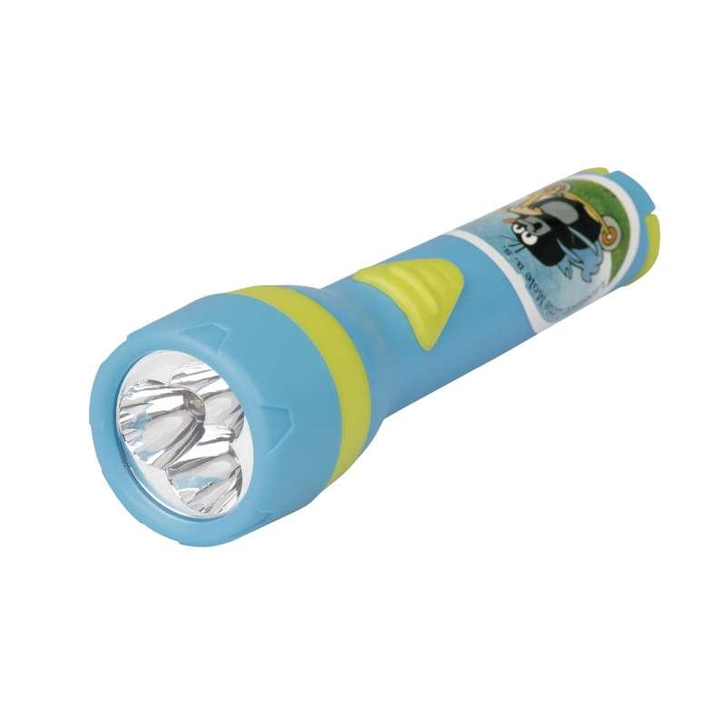 LED svítilna plastová - Krtek, 3x LED, na 2x AA