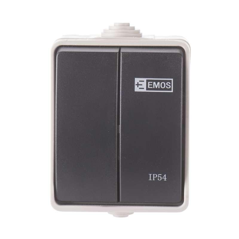 Přepínač 250 V/10 AX IP54 2 tlačítka