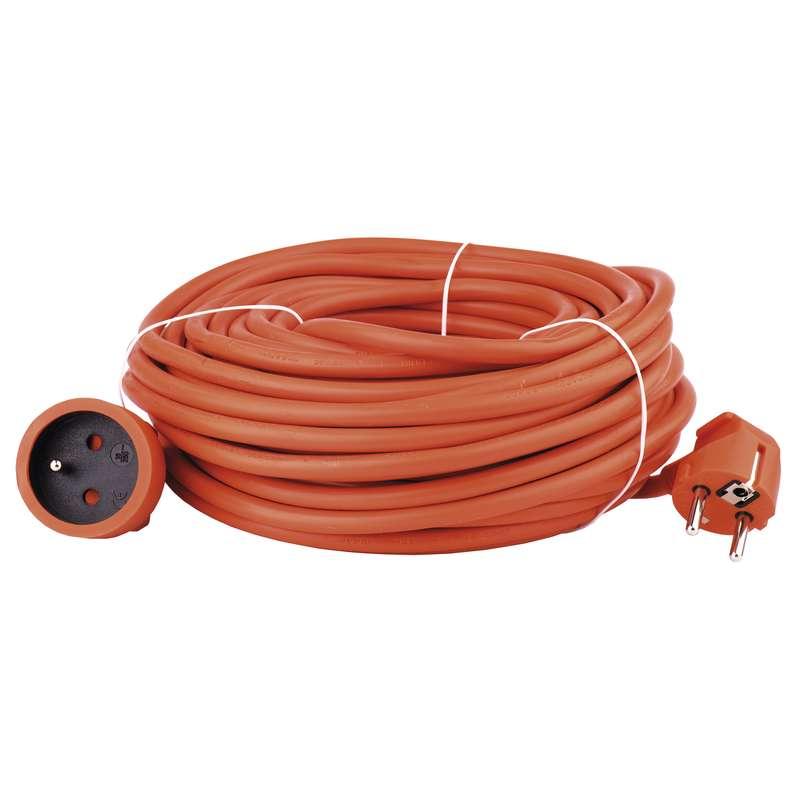 Prodlužovací kabel spojka 20m 3x 1,5mm, oranžový