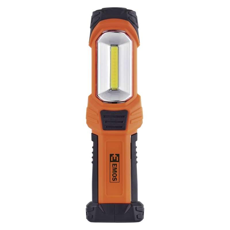 LED svítilna plastová, 3W COB LED + 1x LED, na 3x AA