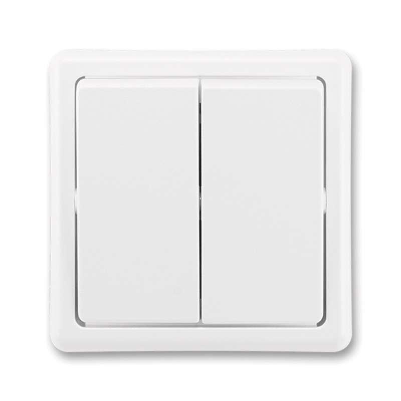 Vypínač CLASSIC dvojitý, jasně bílý 3553-05289 B1