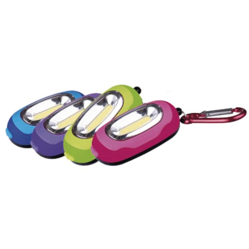 LED svítilna plastová, 1x COB LED, na 2x AAA