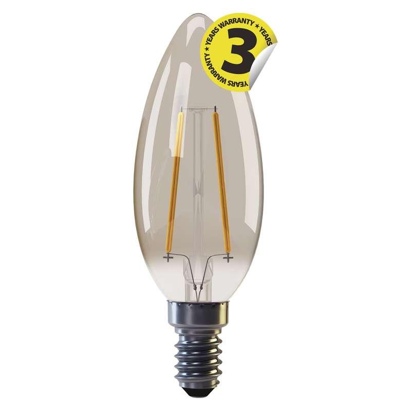 LED žárovka Vintage Candle 2W E14 teplá bílá+