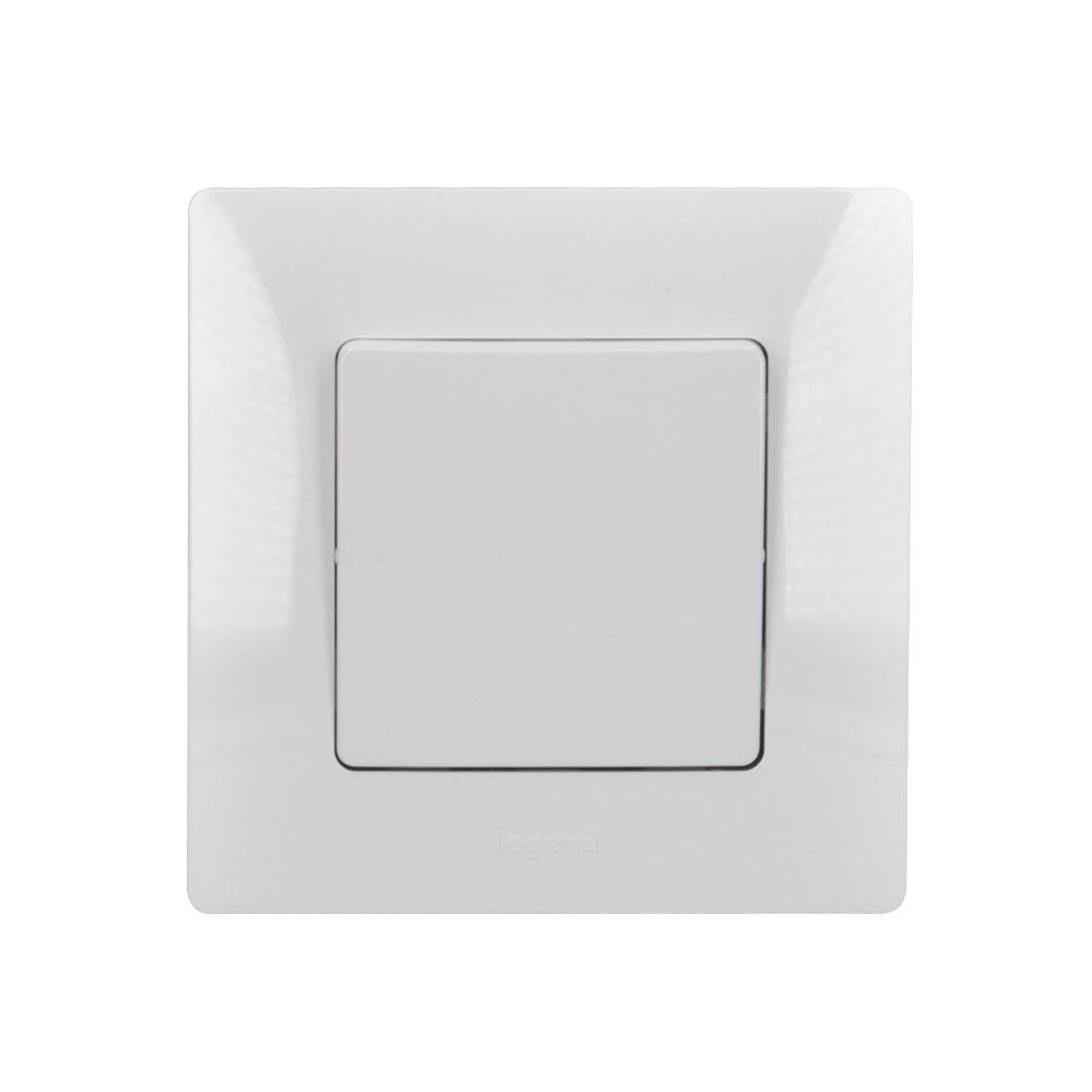 Solight vypínač Legrand Niloé č. 6 střídavý - schodišťový, bílý, včetně rámečku