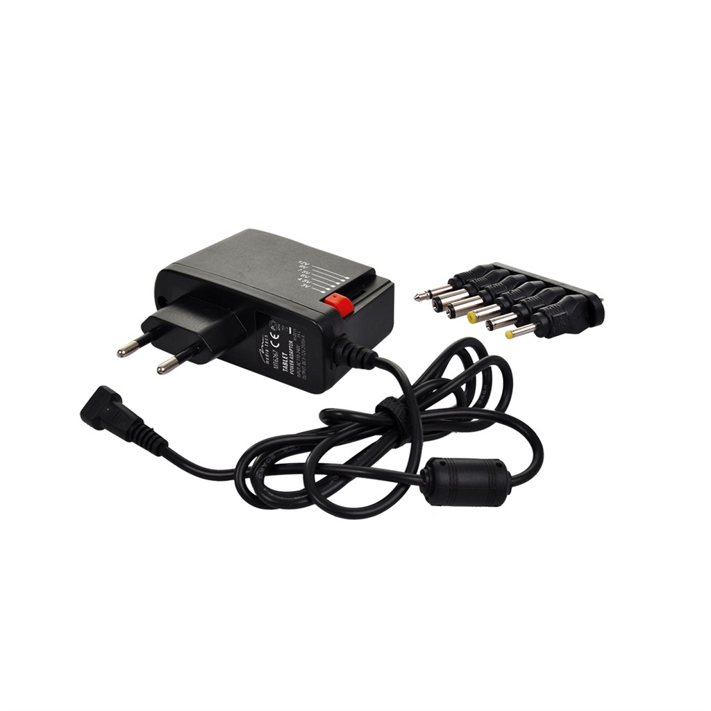 Solight univerzální síťový adaptér 2000mA, stabilizovaný, výměnné konektory