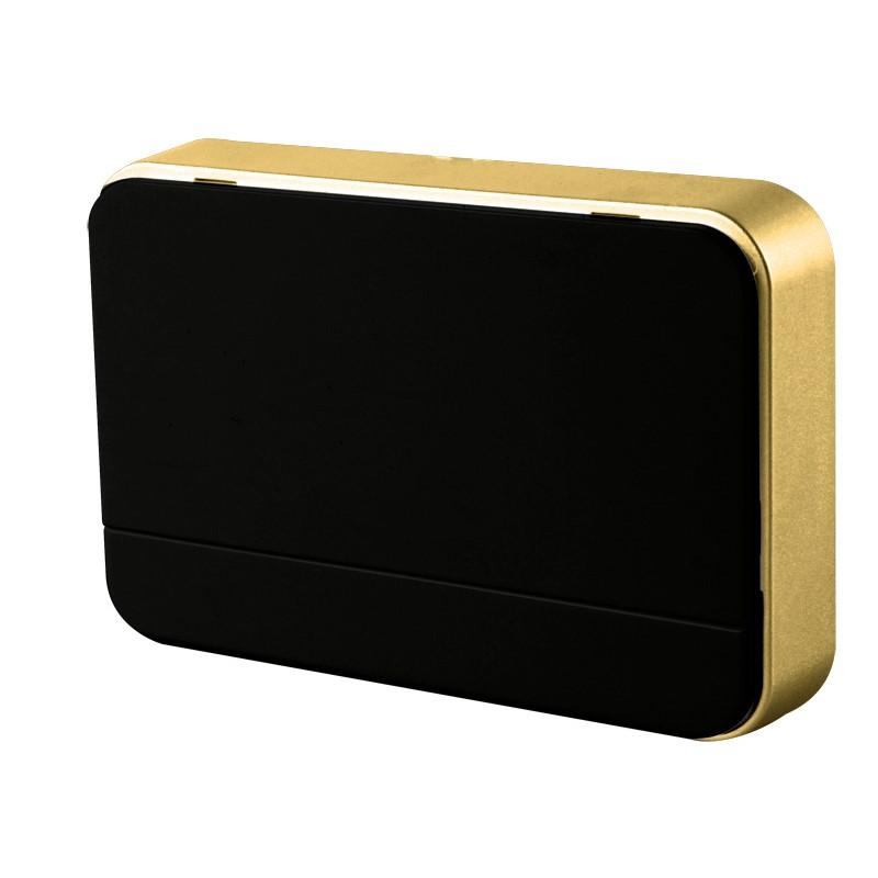 Solight bezdrátový zvonek, 120m, nastavení hlasitosti, černý, 2 x AA baterie