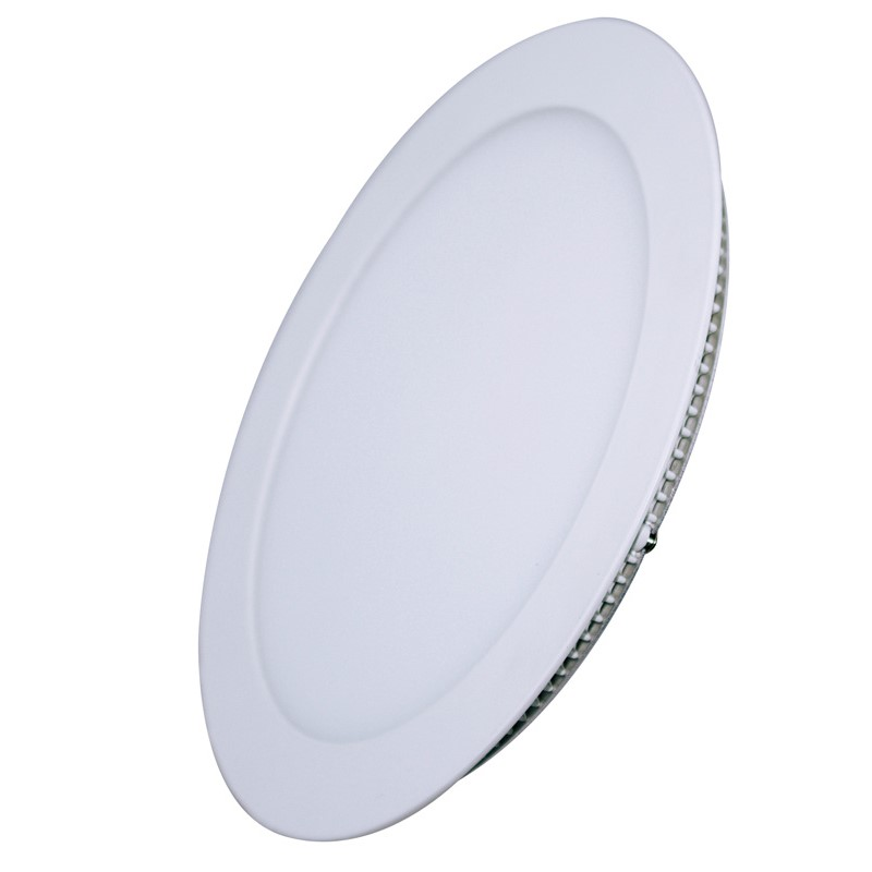 Solight LED mini panel, podhledový, 12W, 900lm, 4000K, tenký, kulatý, bílý