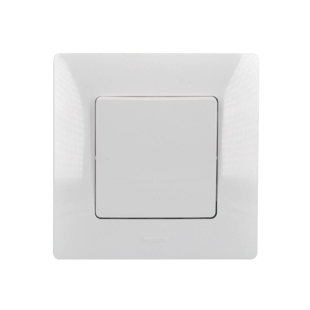 Solight vypínač Legrand Niloé č. 7 křížový, bílý, včetně rámečku
