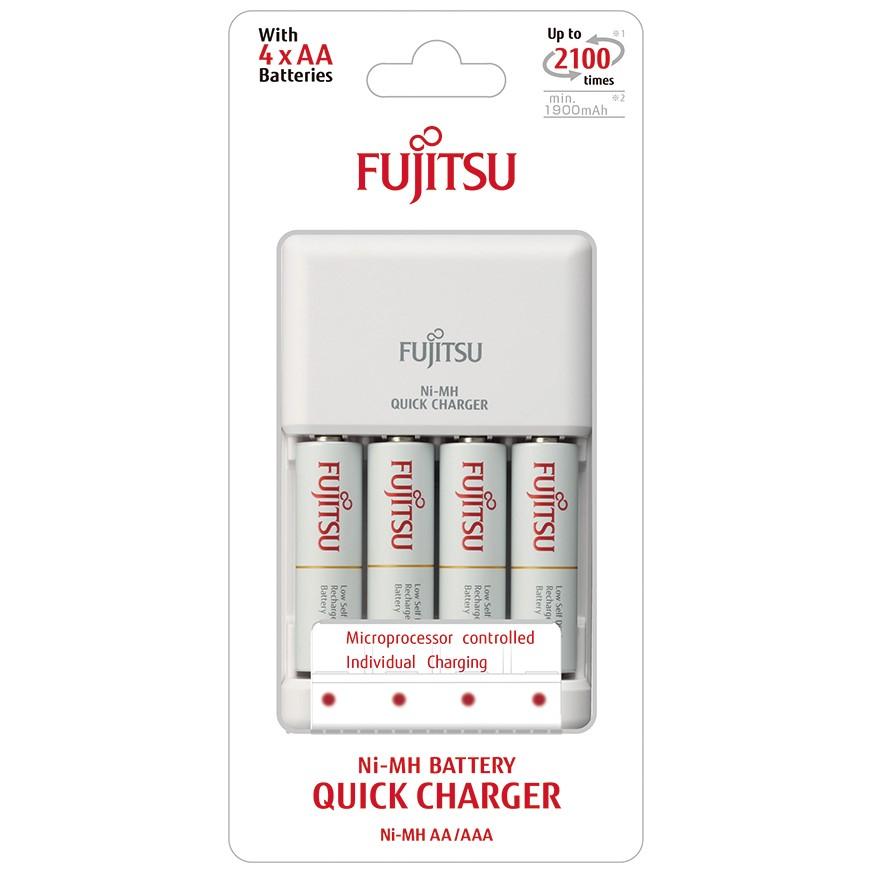 Fujitsu rychlá nabíječka, 4-kanálová, 4x R06/AA, 2100 cyklů, blistr